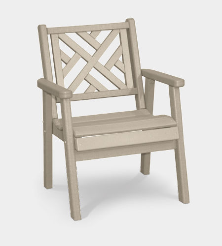 traditional dining chair / with armrests / swivel / recyclable