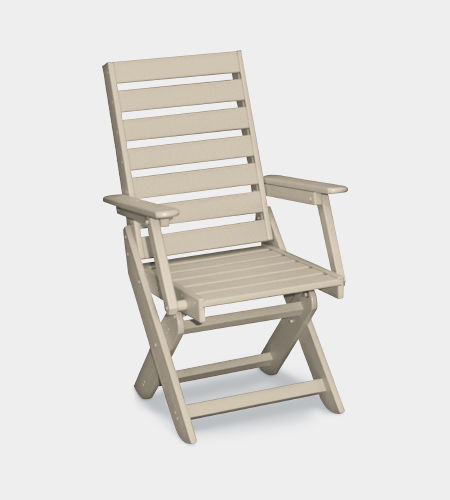 traditional dining chair / with armrests / recyclable / folding