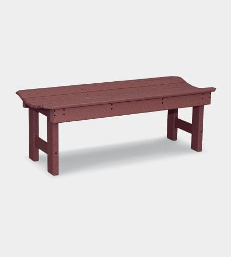 garden bench / traditional / recycled plastic