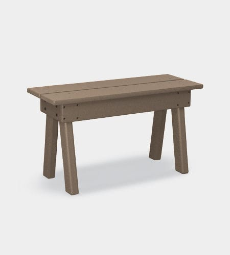 traditional picnic table / recycled plastic / rectangular