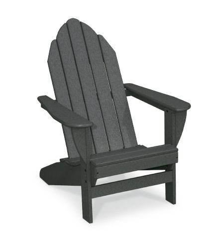 traditional armchair / recycled plastic / black / garden