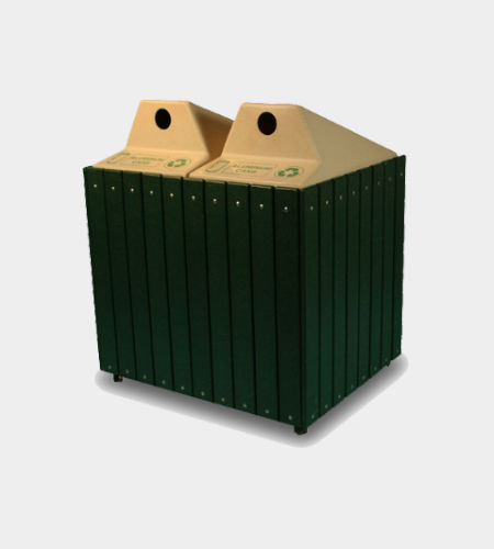 container trash can / recycled plastic / contemporary / recycling