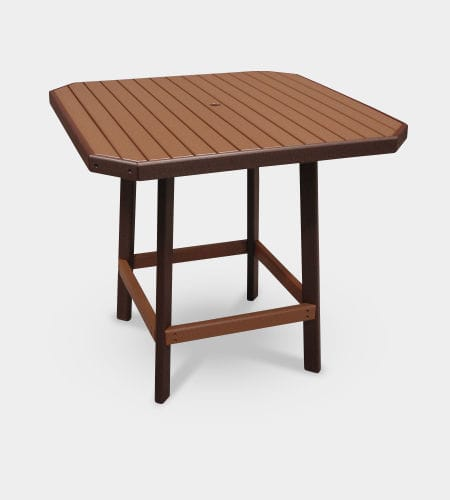 traditional high bar table / recycled plastic / square / outdoor