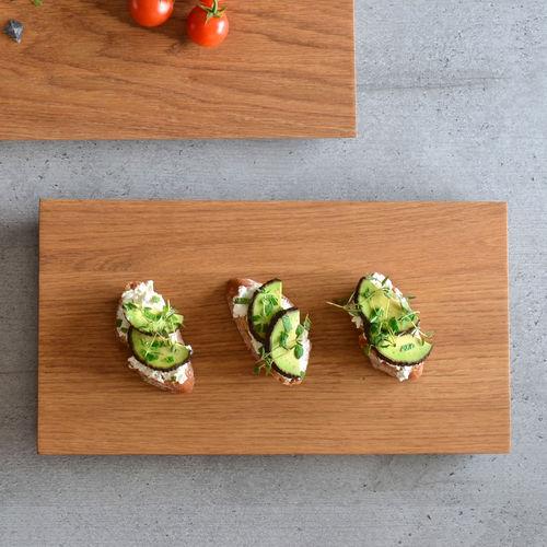 flat plate / serving / rectangular / oak