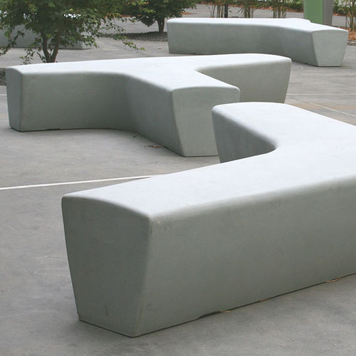 public bench / garden / contemporary / glass fiber reinforced concrete
