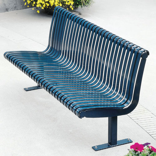 public bench / traditional / steel / cast iron