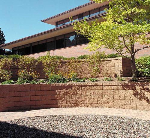 hollow concrete block / for garden enclosures / for retaining walls / stone look