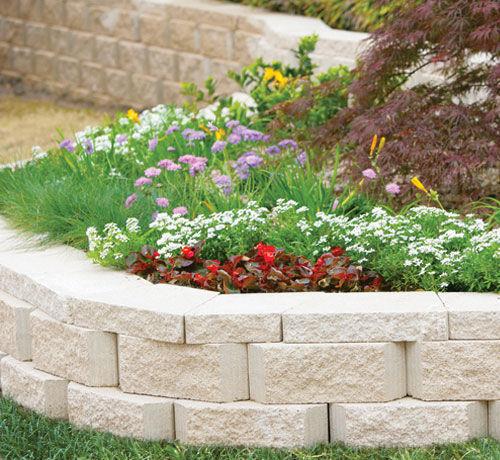 solid concrete block / for garden enclosures / for retaining walls / stone look