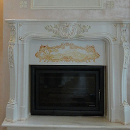 wood-burning fireplace / gas / traditional / closed hearth