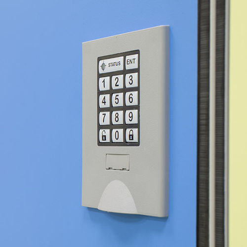 electronic lock / for lockers / combination / with handle