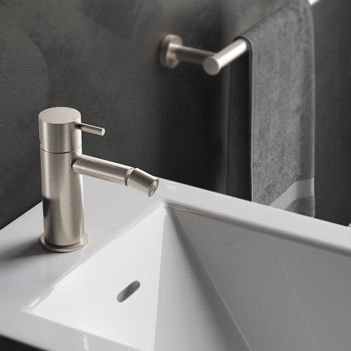 bidet mixer tap / deck-mounted / brass / bathroom