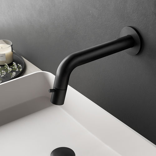 handbasin single tap / wall-mounted / brass / standard
