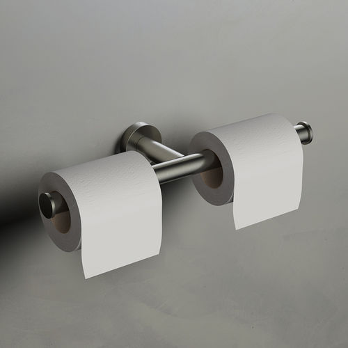 wall-mounted toilet paper dispenser / metal / commercial