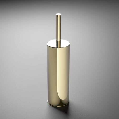 metal toilet brush holder / floor-mounted