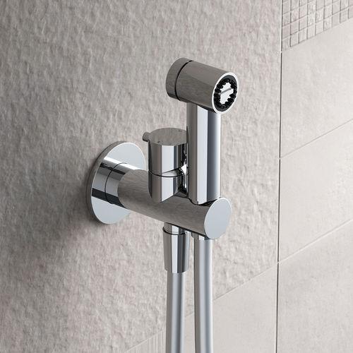 shower mixer tap / bidet / wall-mounted / brass