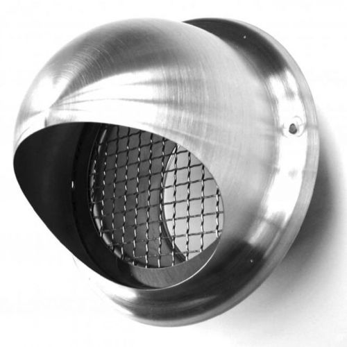 stainless steel ventilation grill / round / for air supply and exhaust
