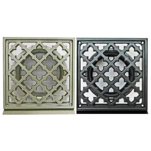 aluminum ventilation grill / square / for air supply and exhaust