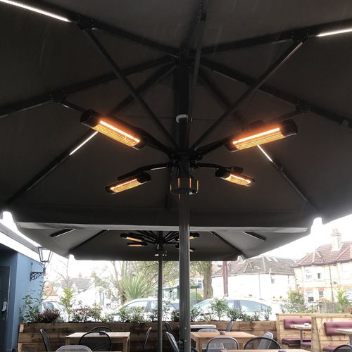 parasol infrared heater / electric / commercial