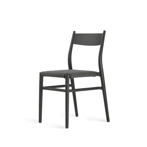 Scandinavian design dining chair / upholstered / with removable cover / with removable cushion