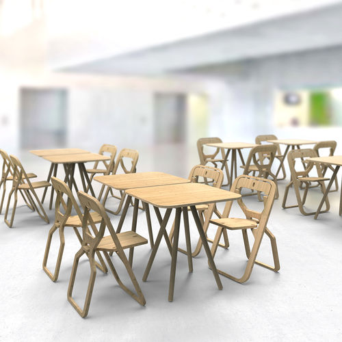 contemporary bistro table / wooden / square / for restaurants