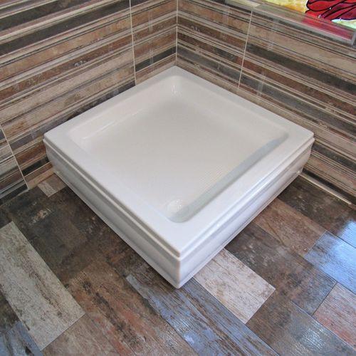 square shower base / acrylic / non-slip