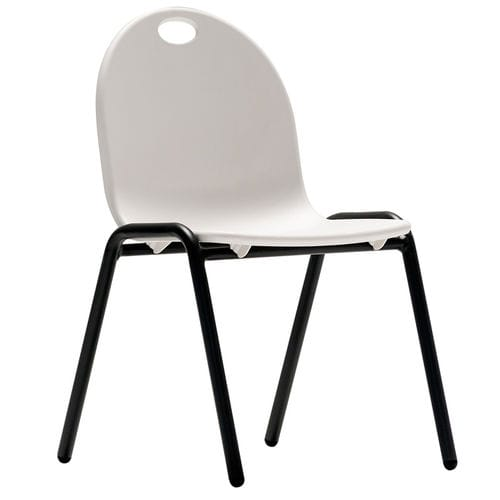 contemporary chair / stackable / child's / painted steel