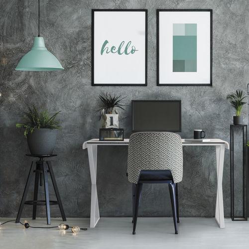 oak desk / solid wood / beech / melamine