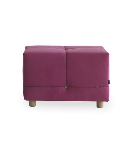 contemporary pouf / solid wood / fabric / rectangular