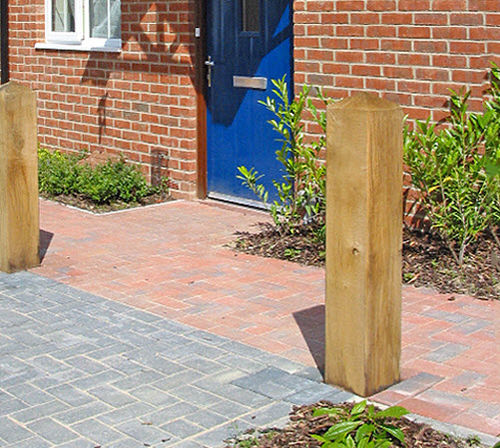 security bollard / wooden / removable / high