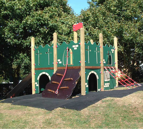 playground play structure / HDPE / wooden / stainless steel