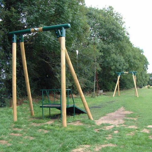 cable slide for playground