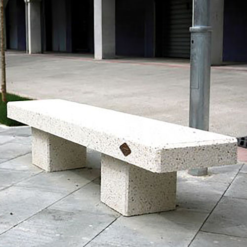 public bench / contemporary / concrete / granite