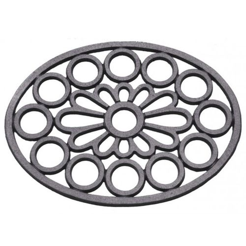 aluminum manhole cover / oval / with ventilation grill