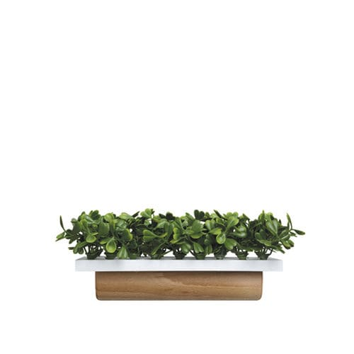 wooden planter / rectangular / contemporary / commercial