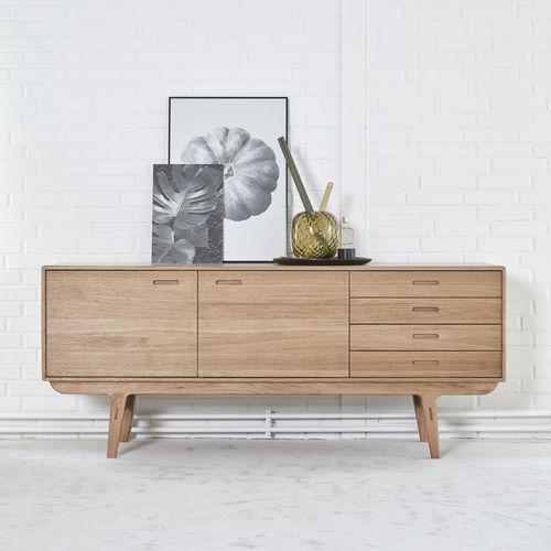 contemporary sideboard / oak / walnut / solid wood