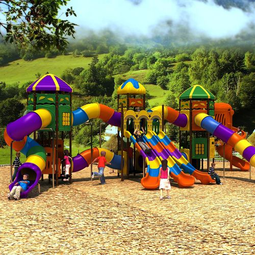 playground play structure / for water parks / polyethylene / modular