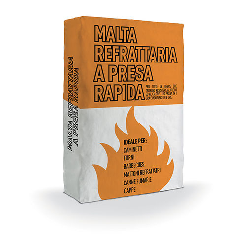 assembly mortar / for masonry / quick-set / refractory