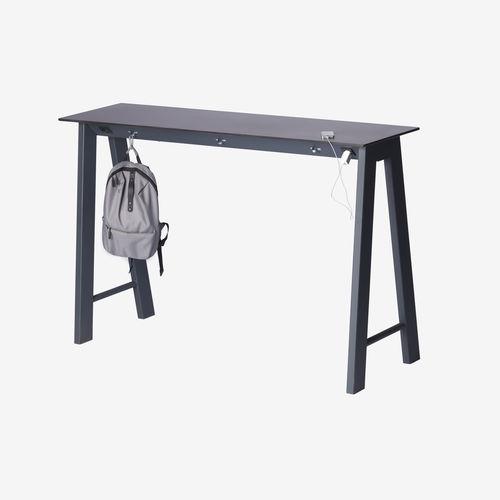 contemporary high bar table / powder-coated steel / zinc / HPL
