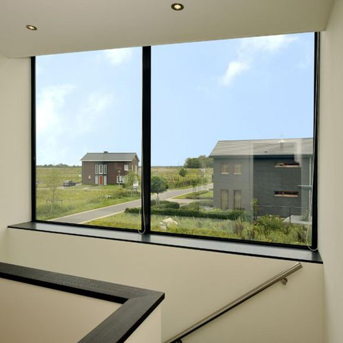 fixed window / aluminum / double-glazed / thermal break