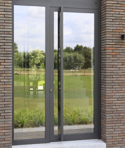 swing French door / aluminum / triple-glazed / thermally-insulated