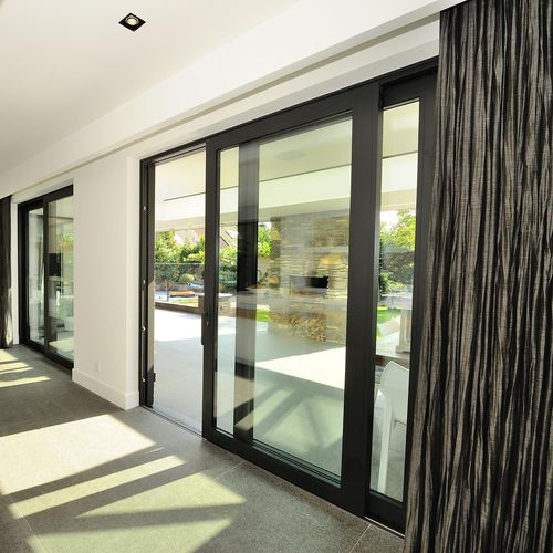 sliding patio door / aluminum / triple-glazed / thermally-insulated
