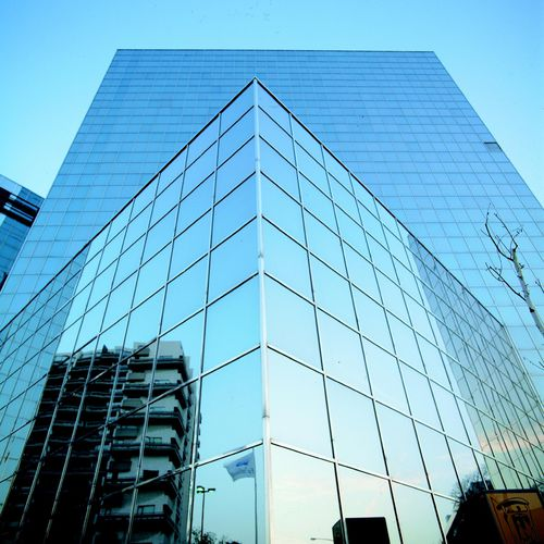stick system curtain wall / aluminum and glass / with integrated insulation / high-resistance