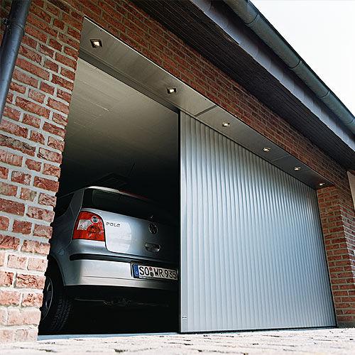 sliding garage door / aluminum / automatic