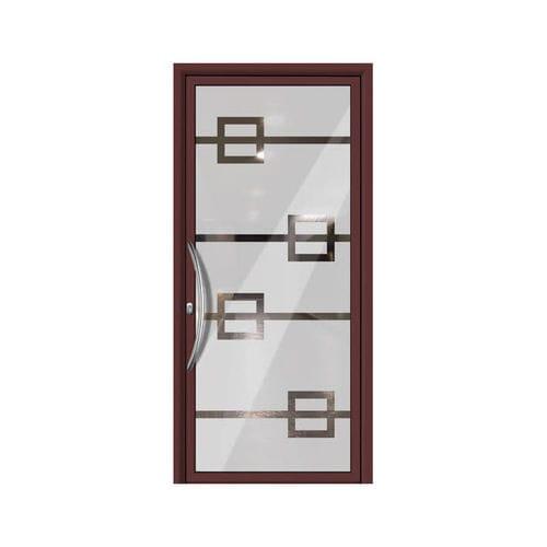 entry door / swing / aluminum / thermal break