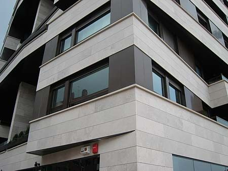natural stone cladding / limestone / matte / panel