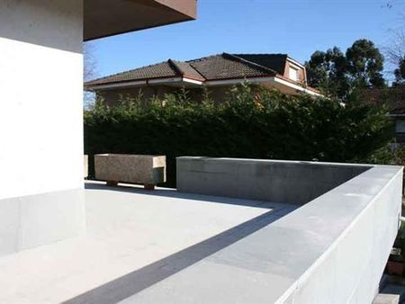 natural stone cladding / limestone / polished / panel