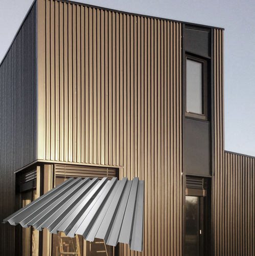 stainless steel cladding / smooth / textured / ribbed