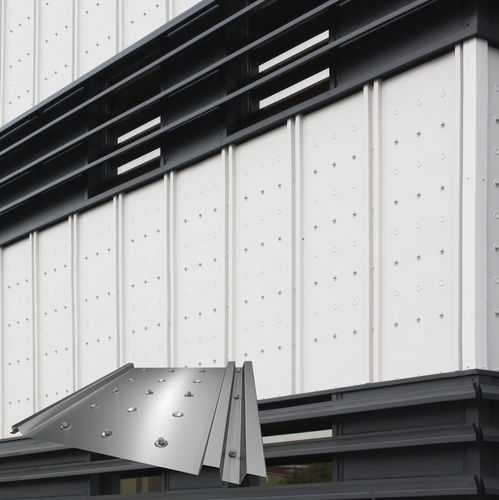 Steel cladding / stainless steel / ribbed / lacquered POINT BACACIER 3S