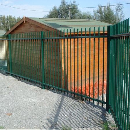 garden fence / for green spaces / with panels / galvanized steel