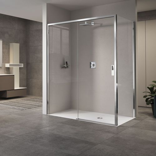 sliding shower screen / corner / glass